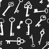 Безшовная предпосылка с ключами Стоковые Фото