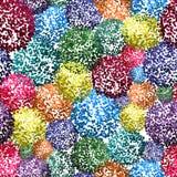 Безшовная предпосылка с малыми pompoms Стоковые Фото