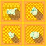 Безшовная предпосылка с домашним животным ягнится чертеж Стоковое фото RF