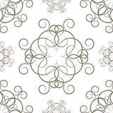 Безшовная предпосылка с орнаментами, Стоковое Фото