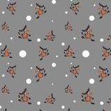 Безшовная предпосылка с оленями Стоковые Изображения RF