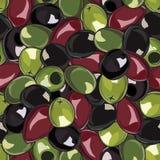 Безшовная предпосылка с оливками Стоковые Фото