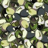 Безшовная предпосылка с оливками Стоковые Фотографии RF