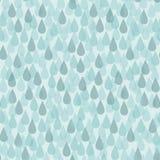Безшовная предпосылка с падениями дождя Иллюстрация вектора