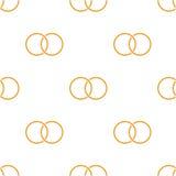 Безшовная предпосылка с покрашенными кольцами Стоковая Фотография RF