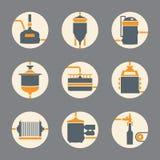 Безшовная предпосылка с процессом заваривать пива Стоковая Фотография RF