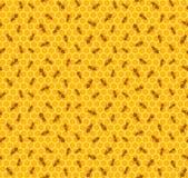 Безшовная предпосылка с пчелами Стоковая Фотография