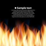 Безшовная предпосылка с пламенем Стоковые Фотографии RF