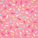 Безшовная предпосылка с розовой поливой донута Стоковые Фото