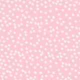 Безшовная предпосылка с розовыми сердцами Стоковая Фотография