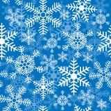 Безшовная предпосылка с снежинками рождества бесплатная иллюстрация