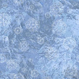 Безшовная предпосылка с снежинками Стоковое Изображение RF