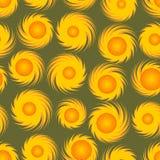 Безшовная предпосылка с солнечными картинами Стоковые Изображения RF