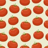 Безшовная предпосылка с томатами Стоковое Фото