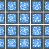 Безшовная предпосылка с цветками контуров Стоковая Фотография