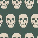 Безшовная предпосылка с черепами Стоковое Фото