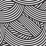 Безшовная предпосылка с черно-белыми линиями Стоковая Фотография RF