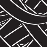 Безшовная предпосылка с черно-белыми нашивками Стоковая Фотография