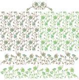 Безшовная предпосылка с bluebells и элементами цветков для дизайна Стоковое Фото