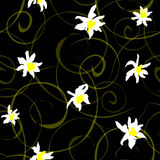 Безшовная предпосылка с daffodils Стоковые Фотографии RF
