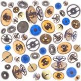 Безшовная предпосылка с gearwheels Стоковое Изображение