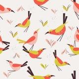 Безшовная птица картины бесплатная иллюстрация