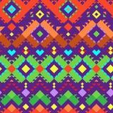 Безшовная племенная картина для дизайна ткани Стоковое Изображение