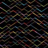 Безшовная равновеликая картина кубов Черные абстрактные геометрические квадратные формы Стоковое Фото