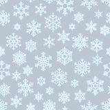 Безшовная различная геометрическая предпосылка снежинок для упаковки, карт, приглашений партии и ткани Рождество зимы иллюстрация вектора