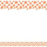 Безшовная рамка границы с повторять японские листья осени иллюстрация вектора