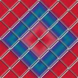 Безшовная раскосная панель цветного стекла иллюстрация вектора