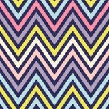 Безшовная радуга Шеврон предпосылки вектора зигзаг Стоковое Фото