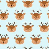 Безшовная ребяческая картина с милыми оленями Творческая текстура для ткани, оборачивая, ткань детей, обои, одеяние бесплатная иллюстрация