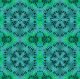 Безшовная регулярн бирюза картины шестиугольника и зеленые тени Стоковое фото RF
