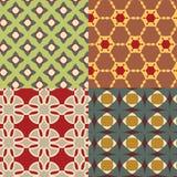 Безшовная ретро геометрическая декоративная картина Стоковые Фото
