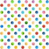 Безшовная ретро геометрическая картина с точками польки Стоковая Фотография