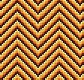 Безшовная ретро картина зигзага 60s теплая иллюстрация вектора