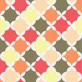 Безшовная ретро картина с геометрическими формами Стоковые Фотографии RF