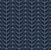 Безшовная ретро картина с геометрическими формами иллюстрация вектора