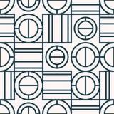 Безшовная ретро картина с геометрическими элементами иллюстрация штока