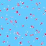 Безшовная розовая картина лепестков розы Стоковое Изображение