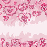 Безшовная розовая картина ` s валентинки Стоковое фото RF