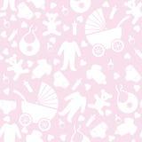 Безшовная розовая предпосылка младенца Стоковые Фотографии RF