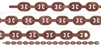 Безшовная сверхмощная цепь ржавчины Стоковое Фото