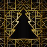 Безшовная связанная картина рождества, иллюстрация вектора Искусство декабрь иллюстрация вектора