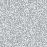 Безшовная серая абстрактная флористическая предпосылка стоковое изображение rf