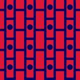 Безшовная синь и красный цвет картины шотландки тартана Стоковая Фотография
