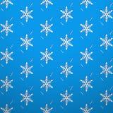 Безшовная снежинка обоев текстуры Стоковая Фотография