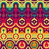 Безшовная современная картина в новом Techno - племенной стиль Стоковая Фотография RF