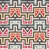 Безшовная современная картина с треугольниками, линиями и кругами Стоковые Фото